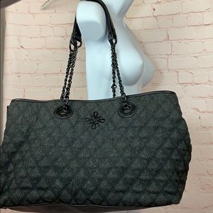 Large Vera Wang quilted divided organizer tote bag